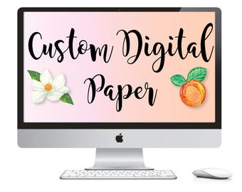Custom Digital Paper - Logo Digital Paper - Custom Printables - Business Services - Branding - Small Business - Custom Logo - Logo Design