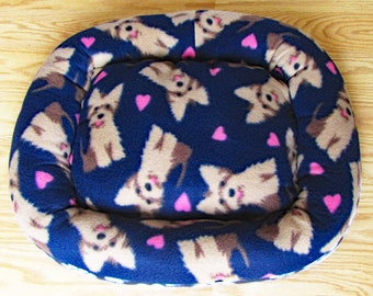 Small, Terrior Dogs, Dog bed, Washable pet bed, Cat bed, oval pet bed, Puppy bedding, Kitten bed, Kennel bedding, Plush Fleece pet bed