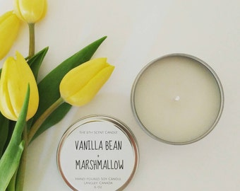 6 oz Tin Candle | Soy Candle | Custom Candle | Favor Candle | Travel Tin Candle | Home Decor