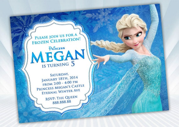 Elsa Frozen Invitation