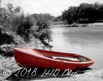 5 x 7 Photographic Print of Boat on the Rio Grande