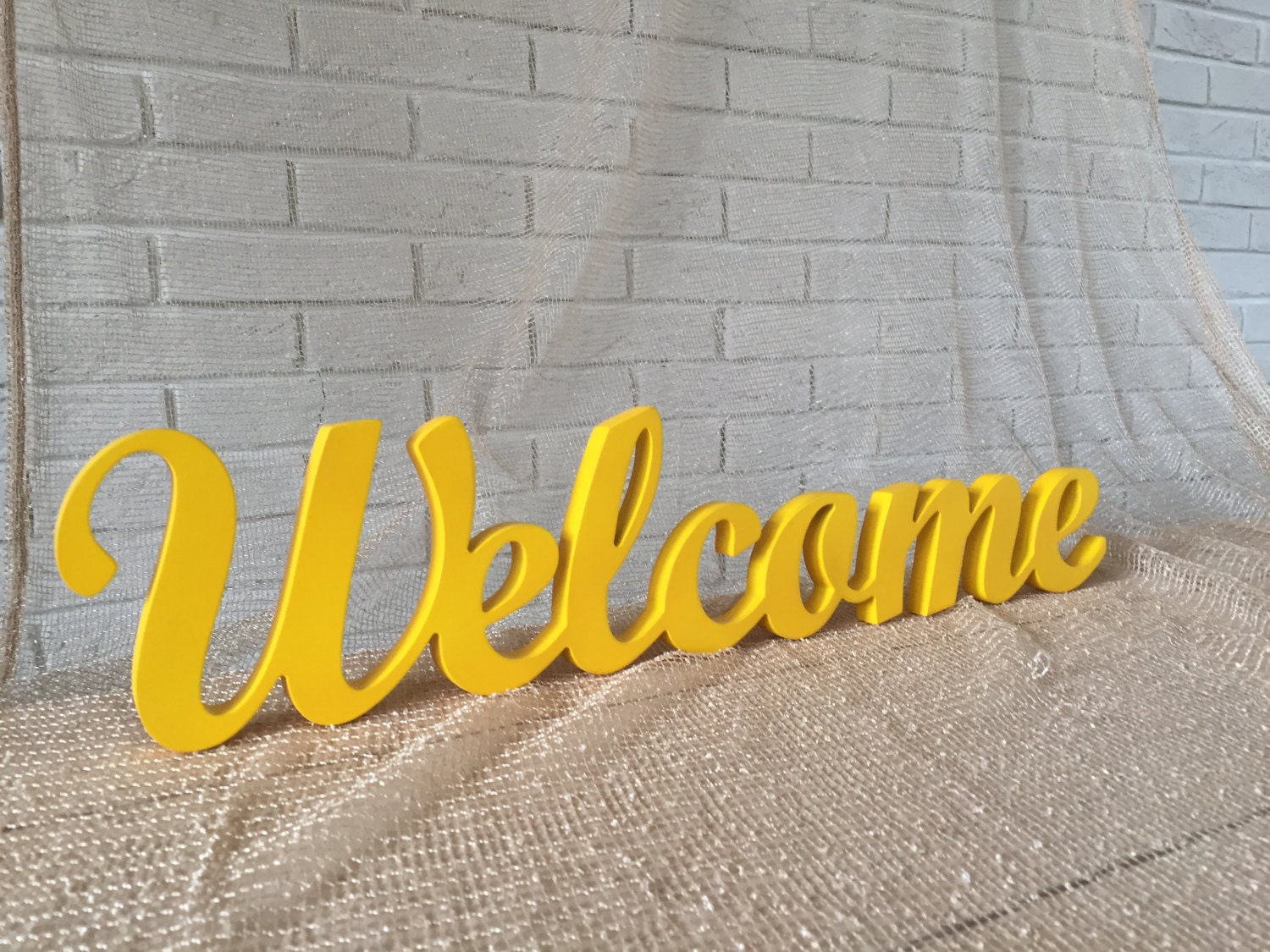 Welcome wooden sign freestanding or wall decoration perfect