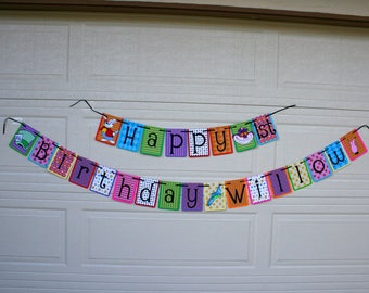 Alice in Wonderland Birthday banner, Alice in Wonderland party, Alice in Wonderland decorations