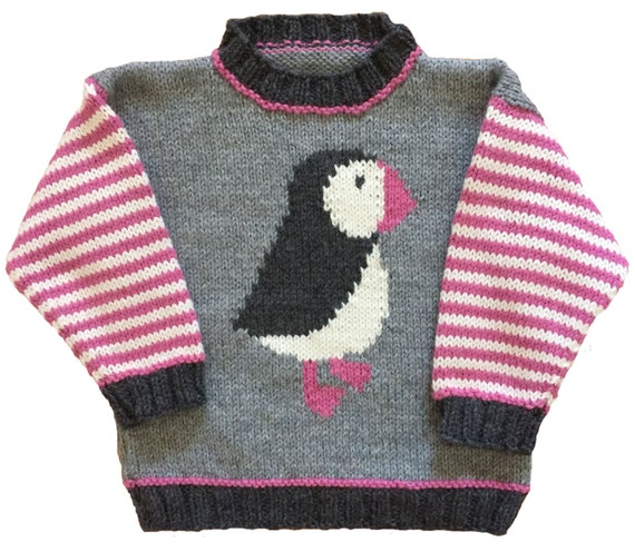 Puffin Pullover Knitting Pattern