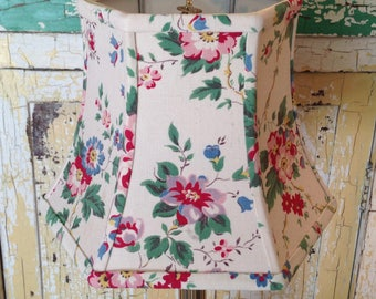 Cottage lamp shade etsy floral lamp shade cottage lampshade farmhouse decor hex clip top country style aloadofball Choice Image