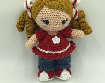 Charlotte - Handmade Crocheted Doll, Amigurumi Doll, Custom Doll