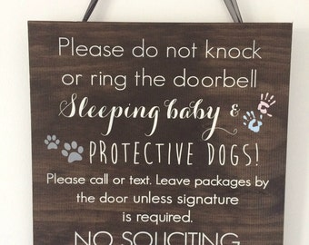Sleeping Baby Sign | Baby Door Sign | Rustic Baby Sign | Wood Baby Sign | Baby Shower Sign | Personalized Baby Sign - BS-3