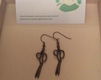 Bronze Scissor Earrings