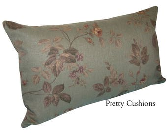 Vintage Sage Rose Floral Cushion Cover
