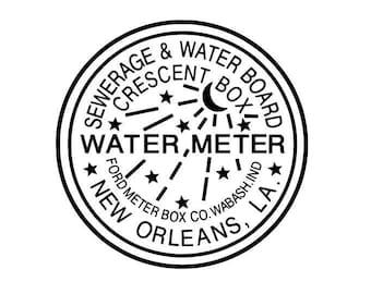 New Orleans Water Meter Decal