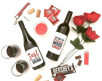 Setting the F*%king Mood wine labels 2 PACK