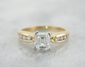 Elegant, Vintage Mid Century Diamond Engagement Ring U8RNWV-D