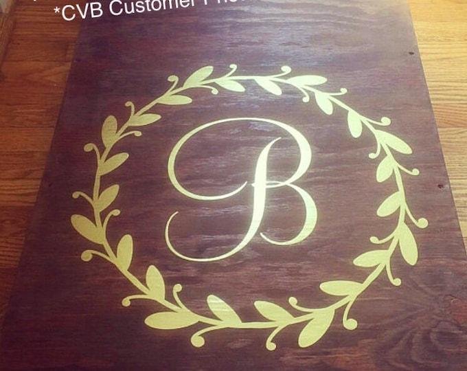 Monogram Cornhole Decals Wedding Decals Gold Wedding Decor Gold Wedding Personalized Board Decals Rustic Wedding Decals Set of Two Decals