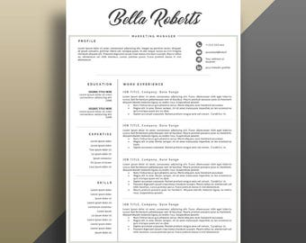eye catching resume templates eye catching resume etsy 21651
