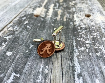 Alabama Wood Cuff Links