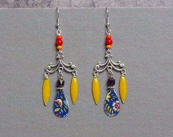 Boho Earrings, Hippie Earrings, Bohemian Earrings, Gypsy Earrings, Spring  Earrings, Baroque Earrings, Colorful Earrings, Gift for Her