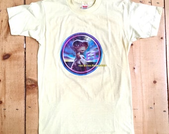 Vintage 80s Yellow ET the Extra Terrestrial Butter Soft 50/50 T Shirt - Small