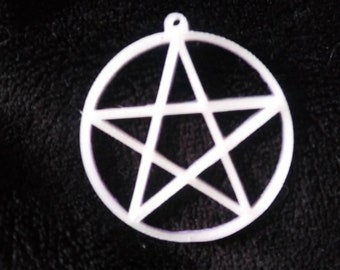 Pentacle charm - 3D printed (UV, Glow and Temp change available)