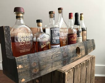 Bourbon/Whiskey Barrel  Shelf with The Bung