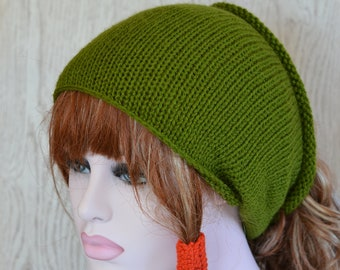 Sage GreenTube Hat Knitted Dreads Small Medium Large,  Dread Wrap Sock, Afro Ha