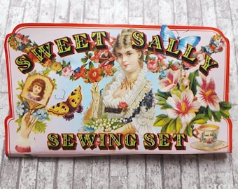 Vintage Sewing Kit Sweet Sally, Retro, Hand Sewing, Needles, Stocking Filler, Hand Needles, Embroidery, Sewing Scissors, Sewing Buttons