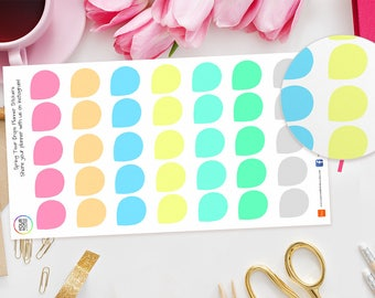 Spring Tear Drop Planner Stickers for Erin Condren Life Planner, Kikki K, Happy Planner, TN, Filofax Planners, reminders, colour