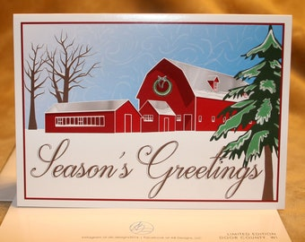 Season's Greeting Door County Card