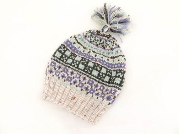 Knitting Pattern Knit Hat Scandinavian Knit Hat Tassel Hat
