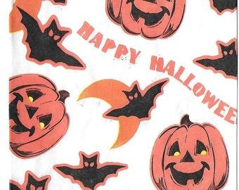 Vintage Unused Halloween Paper Treat Bags - Set of 10
