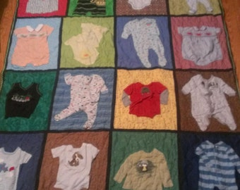 Baby Quilt from your child's cloths