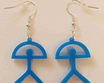 Indalo Man Earrings - Acrylic