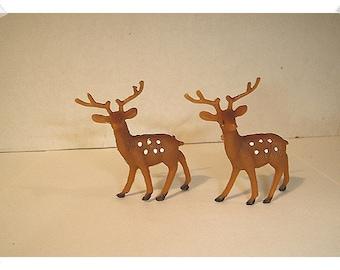 Fairy Garden Deer/ Set of 2/ Plastic / Minis/Supplies*