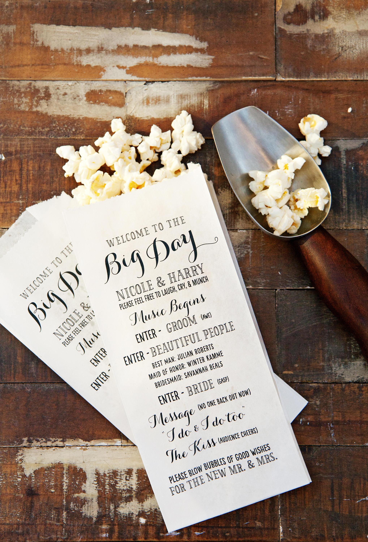 Creative Program Fun Personalized Popcorn Wedding Bag Big
