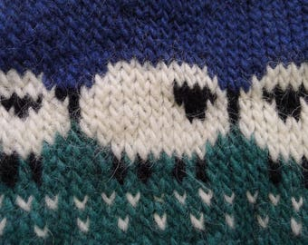 Icelandic sweater for children - with 3 different kinds of sheep :)