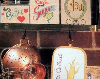 Kitchen Potpourri By June Grigg Vintage Cross Stitch Pattern Leaflet 1980