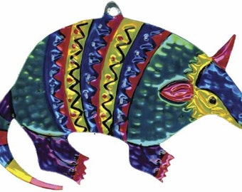 Tin Armadillo Ornament