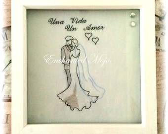 Una Vida Un Amor Wedding Embroidery File