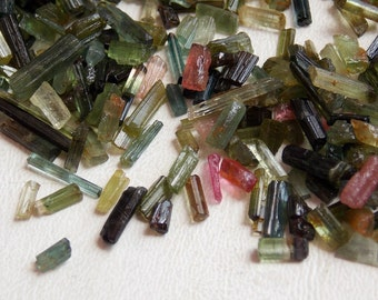 10 GRAM Real Multi Tourmaline Natural Crystal Rough Stick 15x3 To 3x2 MM Approx Finest AAA Quality 100% Natural Wholesale Price New Arrival