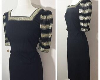 Black and Gold Dress // Sakowitz Parnes Feinstein