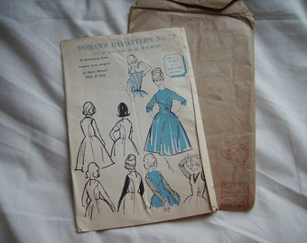 Woman's Day dressmaking/sewing pattern by Pierre Balmain - Factory folded, bust size 36 inches