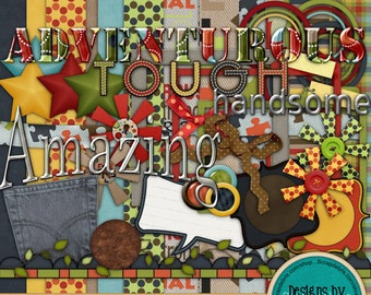 Adventurous ~Instant DIGITAL DOWNLOAD~ Scrapbook Kit