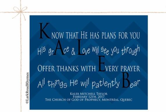 Personalized godson baptism poem religious name gift for baby negle Images