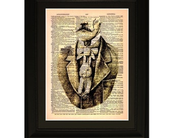 """Plunkett"""".Dictionary Art Print. Vintage Upcycled Antique Book Page. Fits 8""""x10"""" frame"""