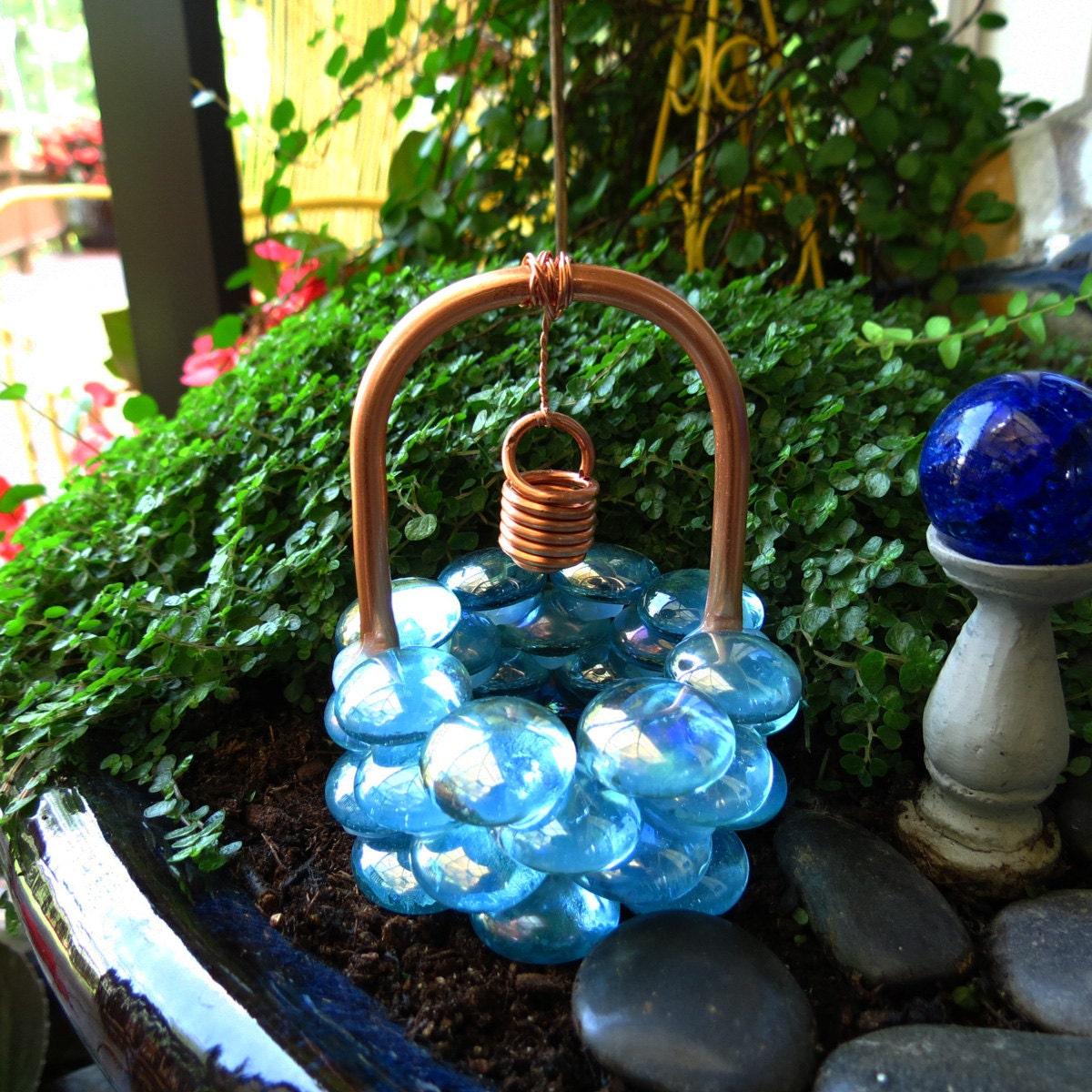 Fairy Garden Wishing Well Baby Blue Eyes Glass Drops