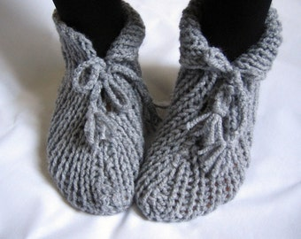 Grey Slippers Socks Fathers Day Gift
