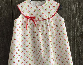 Size 12 to 18 months Red Cherry Print dress