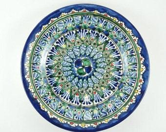 Plates wall hanging decorative plates on wall blue plates on wall display blue  sc 1 st  Etsy & Plate wall decor | Etsy