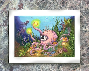 Octopus's Garden, Art Print- Free Shipping in the US!