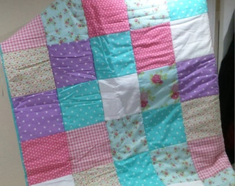 Patchwork Quilt/Throw 'Dreaming Of Summer'