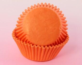 Orange Cupcake Liners Bulk 2'' Standard Size Cupcake Liners, Baking Cups, Muffins